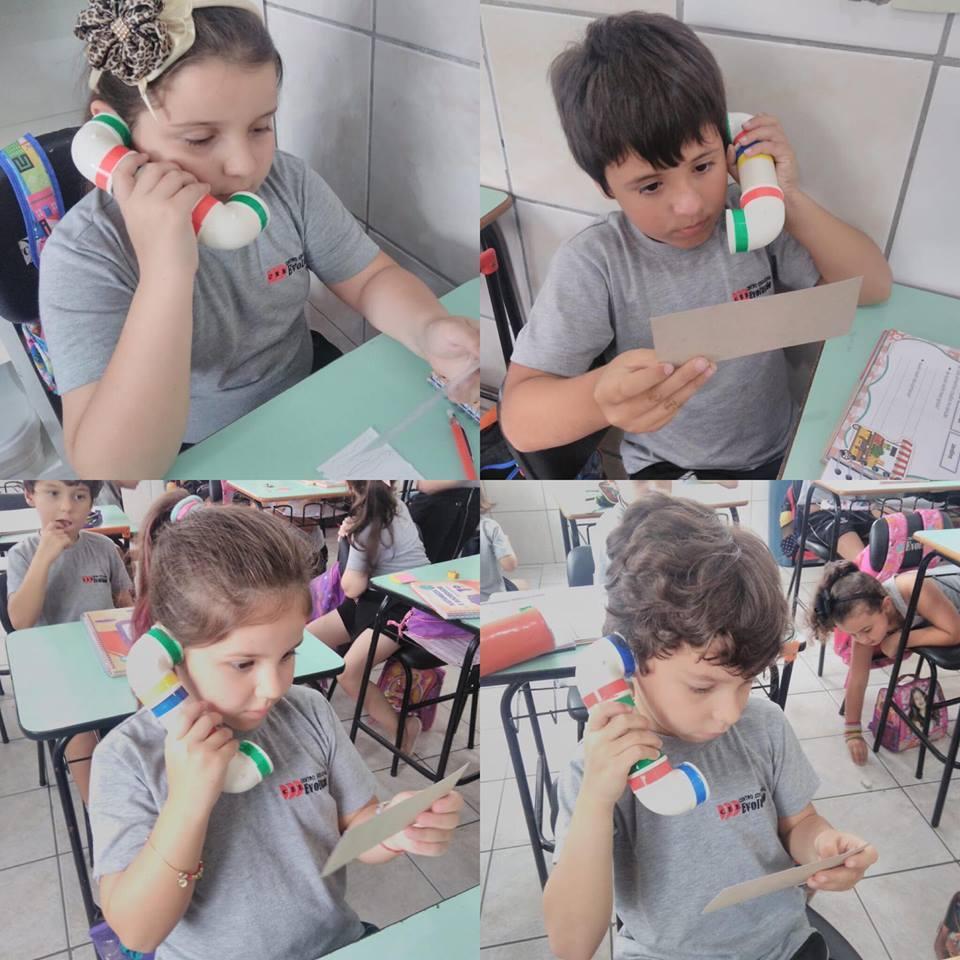 Atividade do Sussurrofone, desenvolvendo a leitura
